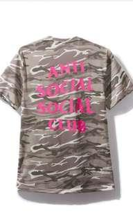 Anti social club assc ghost camo kloch tee L