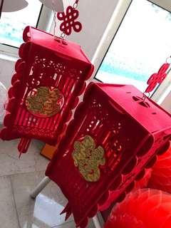 1 pair CNY Lanterns, used only once hence like new