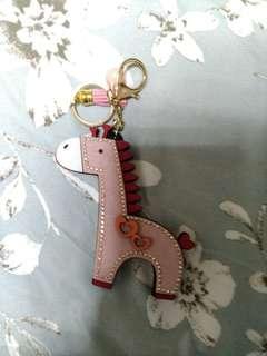 🚚 全新-紅色小馬鑰匙圈