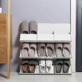 🚚 674. Space Saver Corridor Stackable Shoes Rack (2 colours)