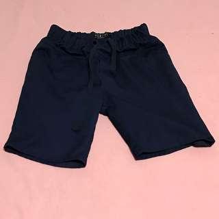 古著藍色短褲
