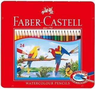 🚚 Fabre-Castell 輝柏 -24色水性色鉛筆 (鐵盒裝)
