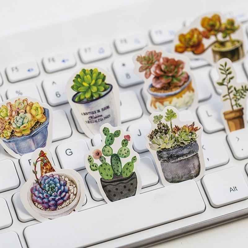 [PO] 50pcs Plant/Greenery/Succulent/Cactus Stickers