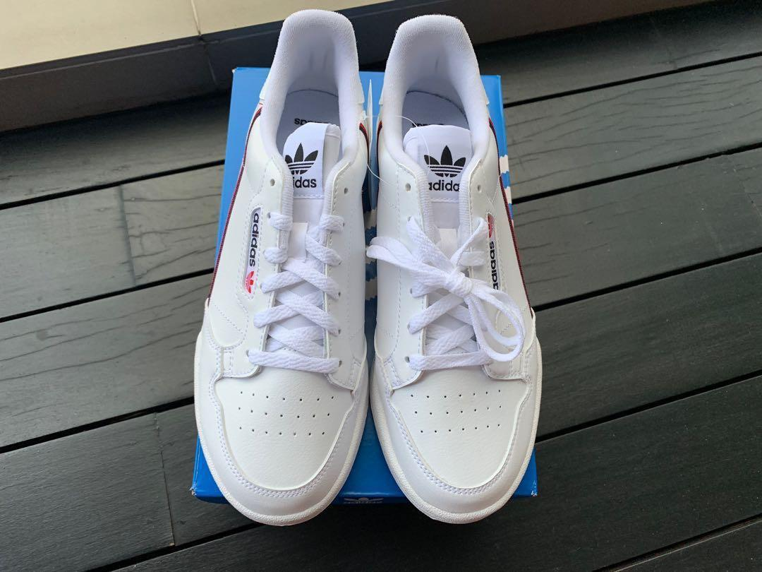 ADIDAS CONTINENTAL 80 WHITE SIZE 39 US