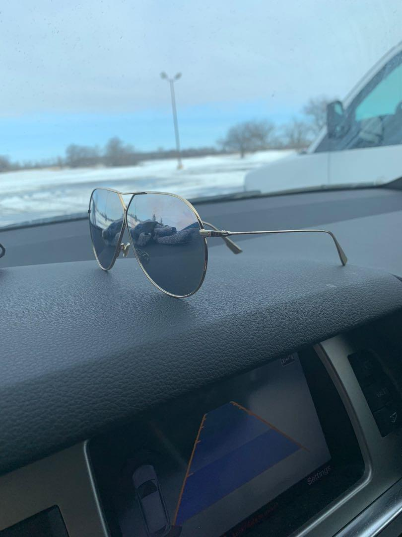 Authentic Dior Stellaire 3 Mirrored Oversized Aviator Sunglasses
