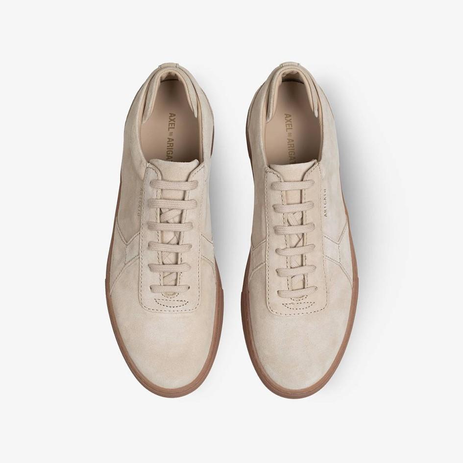 1984d67cb91 AXEL ARIGATO Platform Sneakers in Beige Suede Leather   Gum Sole ...