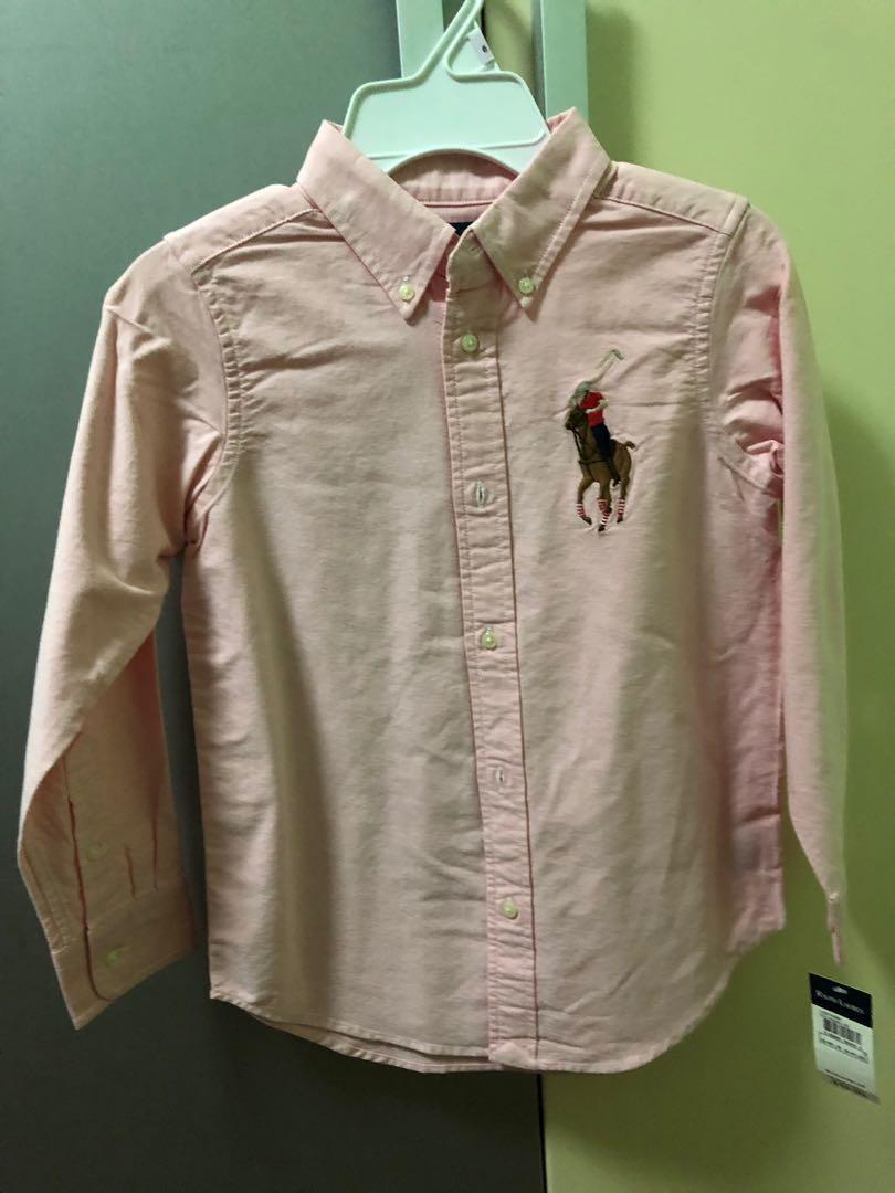 d339bc23 BNWT Polo Ralph Lauren Pink Big Pony Shirt, Babies & Kids, Boys ...