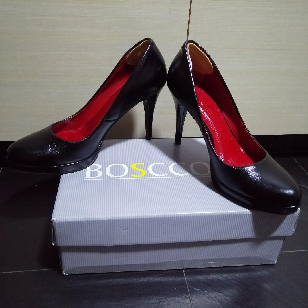 💯Bosccolo Genuine Leather Black Red Sexy Heels Stylist   Very ... 3b970abca1a74