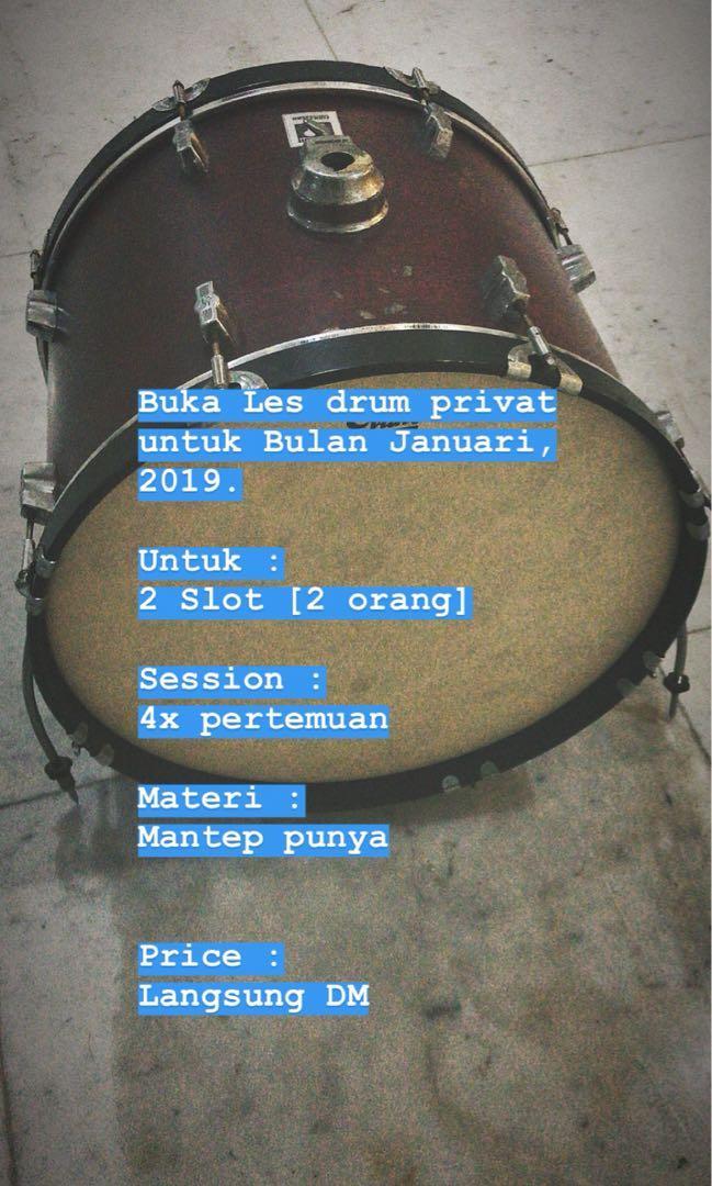 Buka Jasa Les private drum