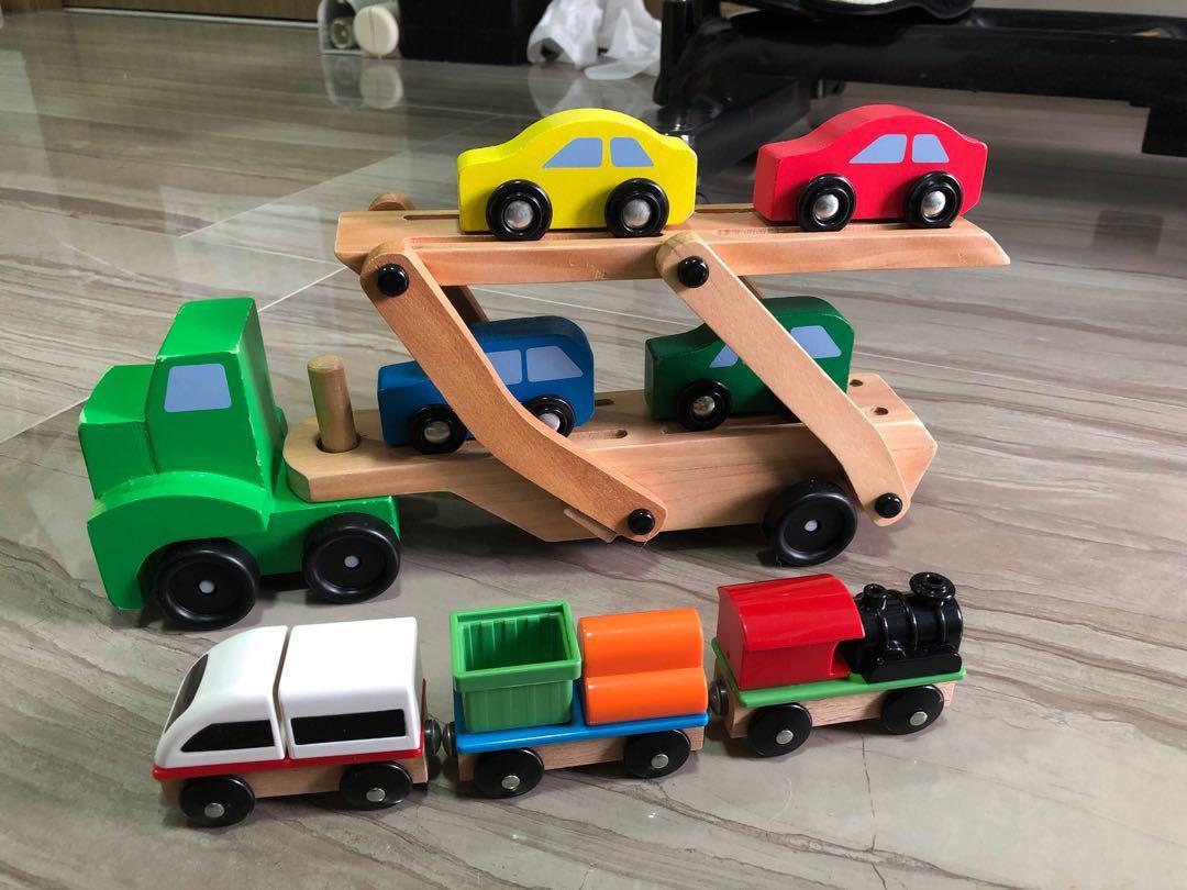 Bundle Sales For Melissa Doug Car Carrier Truck Wooden