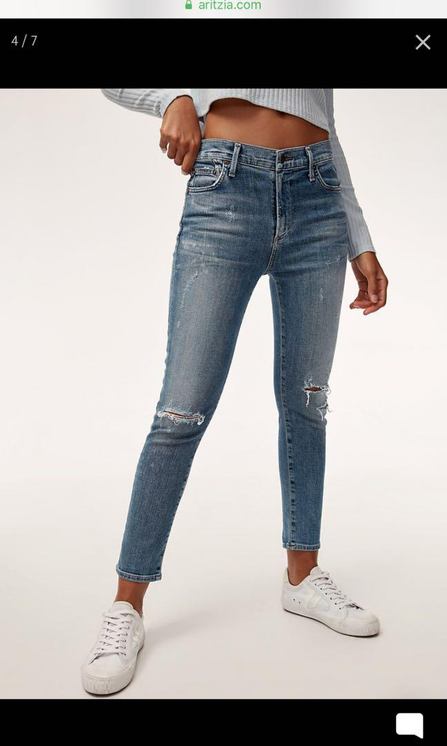 Citizen of Humanity Rocket Fizzle Cropped Jeans size 26