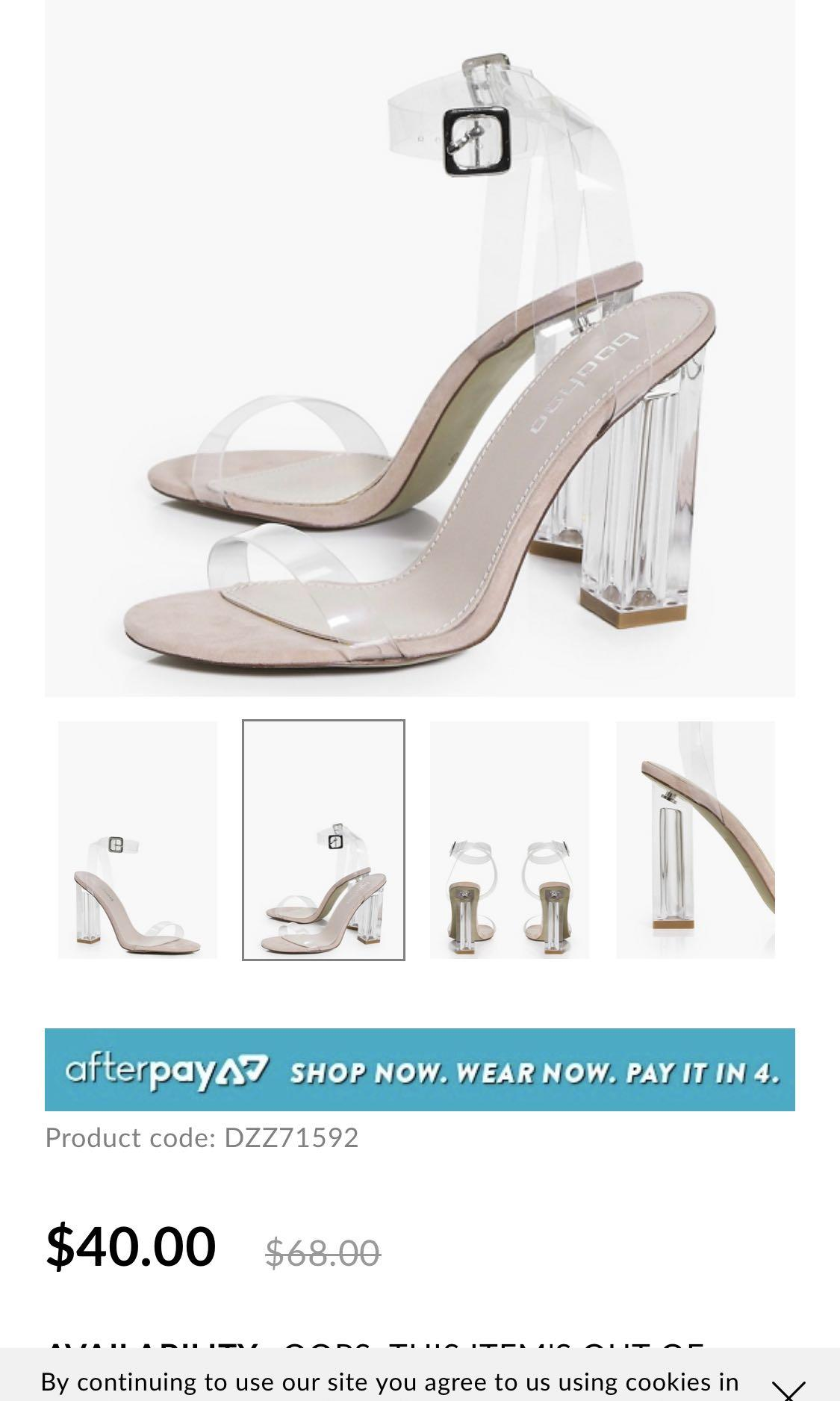 Clear transparent heels