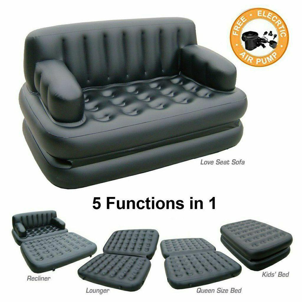 Double 5 In 1 Multifunction Inflatable Fasion Air Sofa Queen