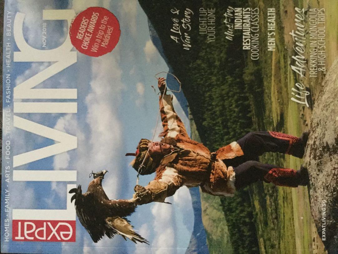 Expat living magazine Jun/oct 2017/ Jan/March/Nov/Dec 2018