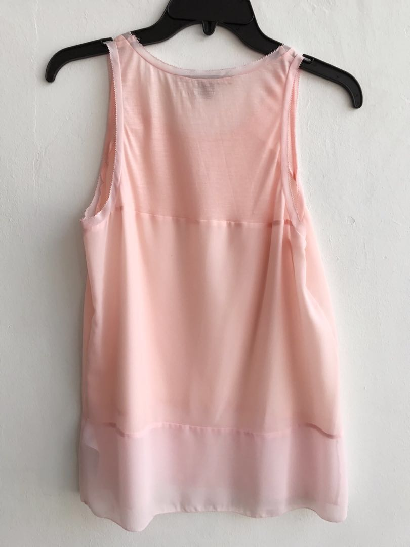 62036ebd123 FCUK French Connection Blush Pink Sleeveless Top, Women's Fashion, Clothes,  Tops on Carousell