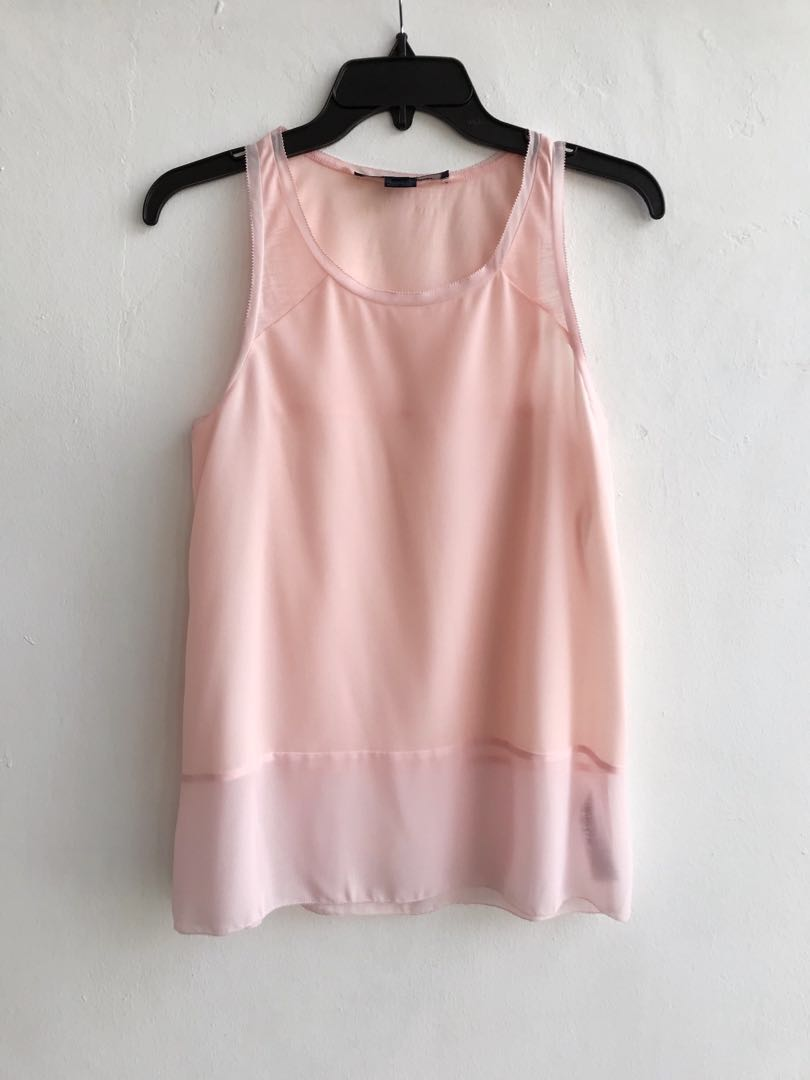 6aa64693e81 FCUK French Connection Blush Pink Sleeveless Top, Women's Fashion ...