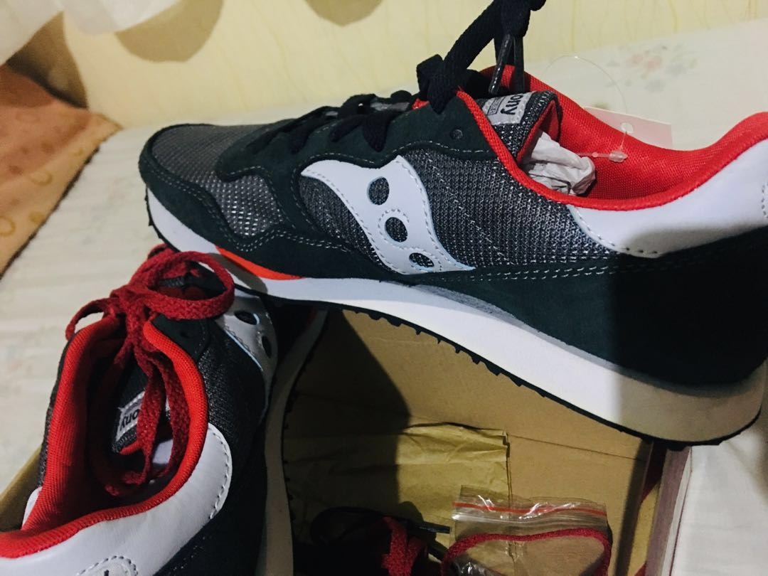 59f3b0dd3b26 FREE SHIPPING) Saucony Charcoal Red Sneakers NOT Adidas Nike New ...