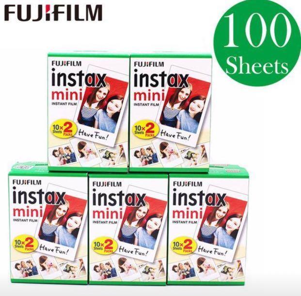 Fujifilm Instant Instax Mini White Films 100 sheets