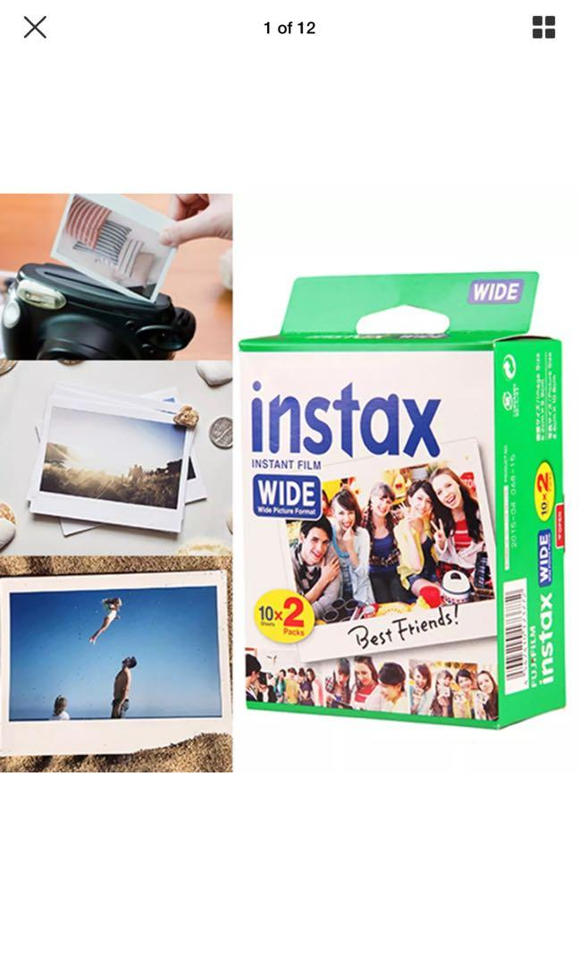 FujiFilm Instax Intsant Wide Film Twin Pack x 2