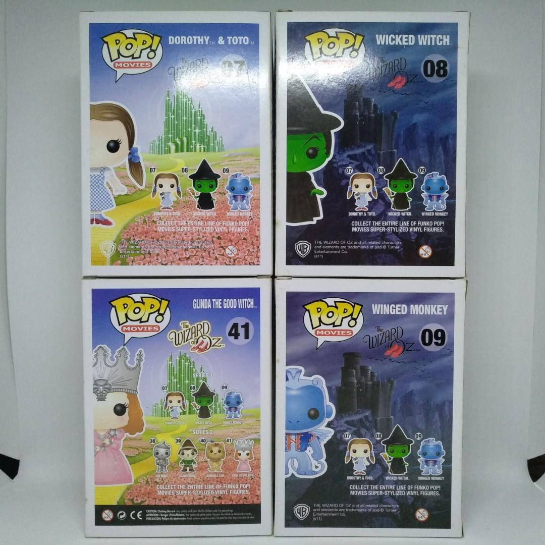 FUNKO POP! THE WIZARD OF OZ SET [DOROTHY & TOTO, WICKED WITCH, WINGED MONKEY & GLINDA THE GOOD WITCH]