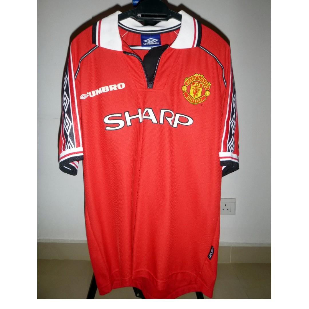 5b8cd79a3 Vintage Original  Manchester United Umbro Sharp Jersey (free 1 more ...
