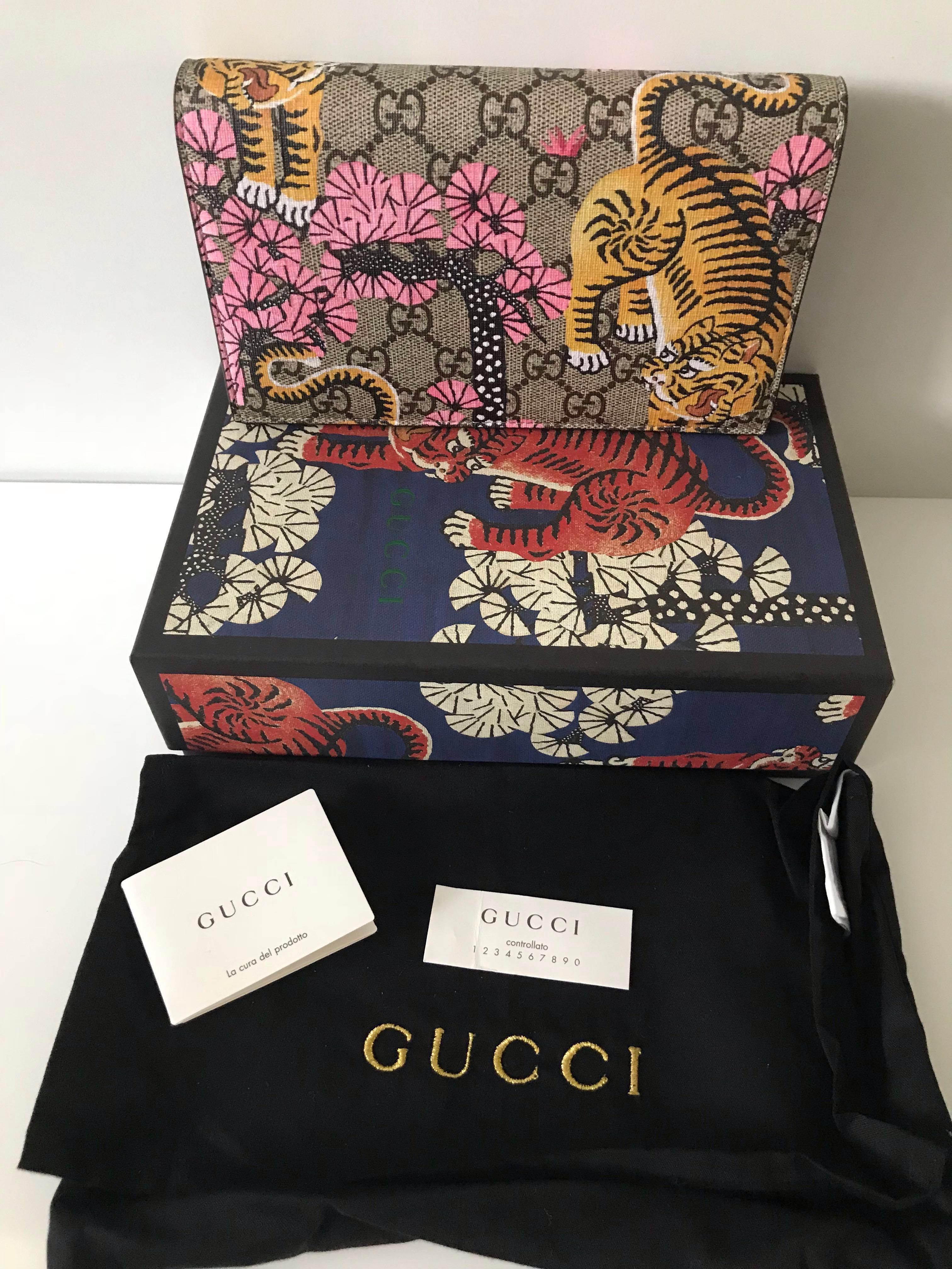 1d77104aa015 Gucci GG Supreme Monogram Bengal Chain Wallet Bag (Limited Edition),  Women's Fashion, Bags & Wallets, Wallets on Carousell