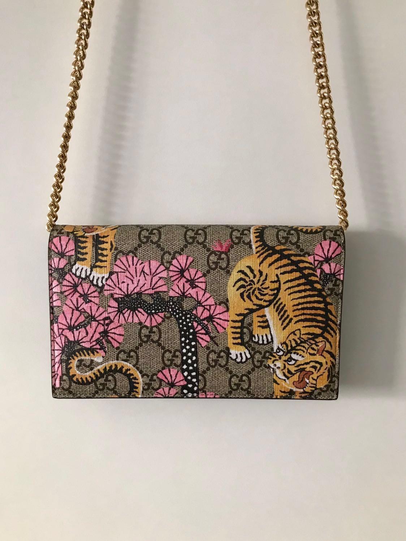 6561baaea2f Gucci GG Supreme Monogram Bengal Chain Wallet Bag (Limited Edition ...