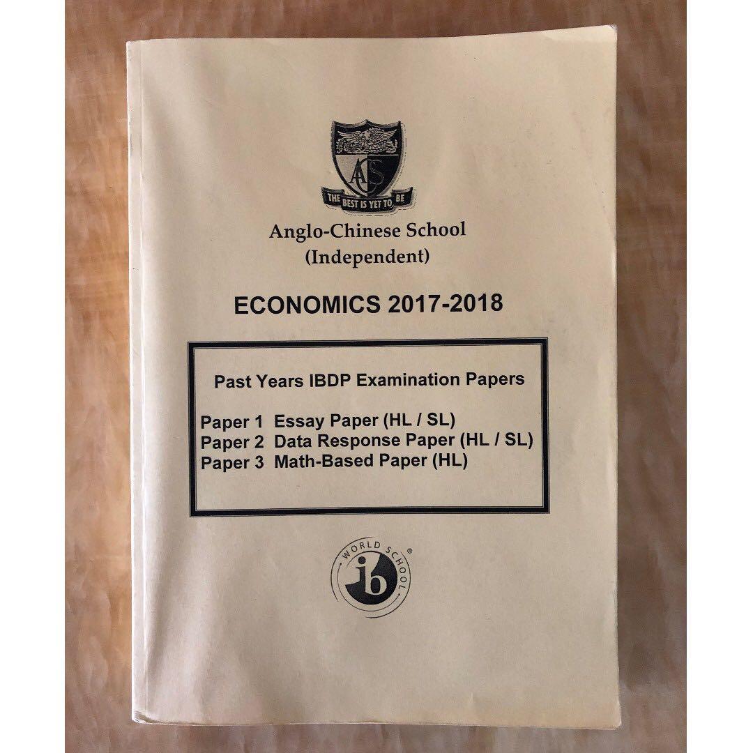International Baccalaureate IB Economics 2017-2018 HL/SL