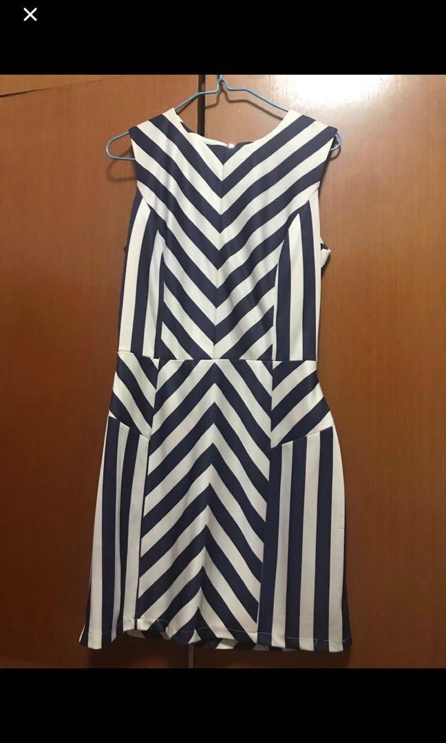 Love and bravery stripes dress