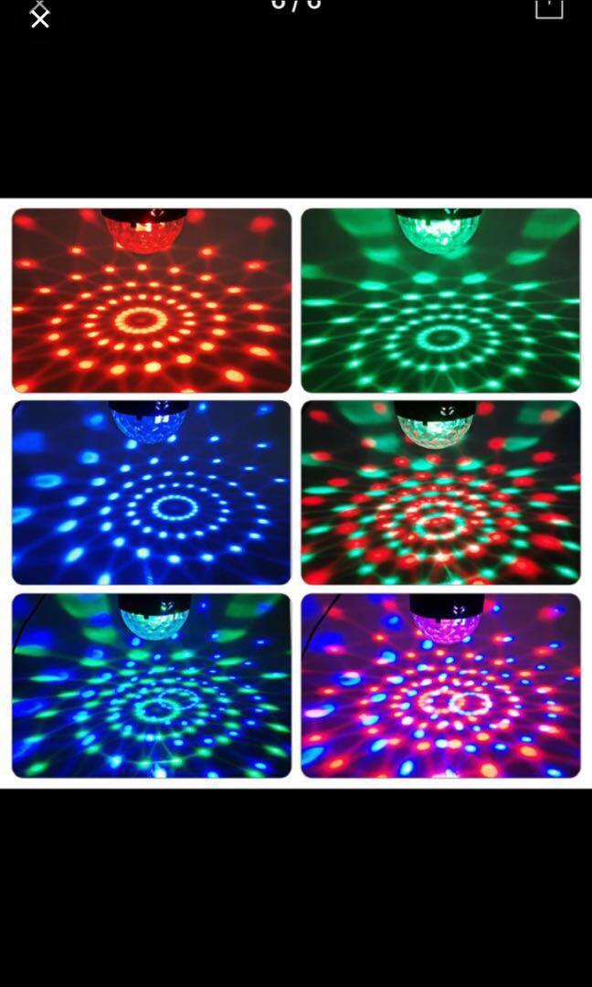 Mini USB 6w led Party Lights Portable Crystal Magic Ball Home Party Karaoke Decorations Colorful Stage LED Disco Light