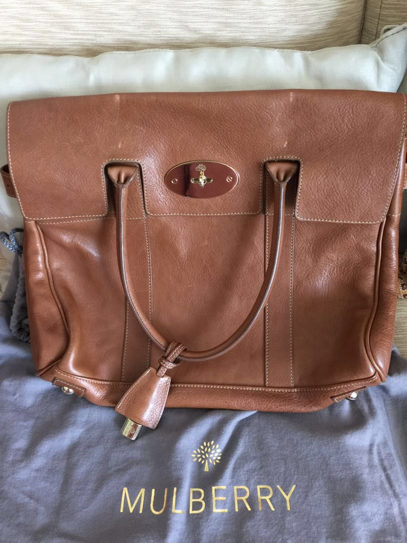 56bff22569 Mulberry Bayswater Oak Natural leather