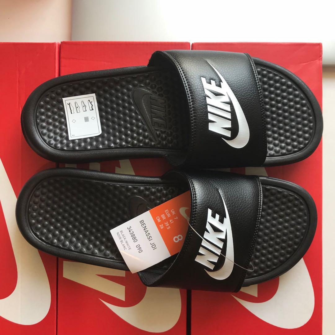 detailed look f87c1 3b578 Nike Benassi Slides, Men's Fashion, Footwear, Slippers ...