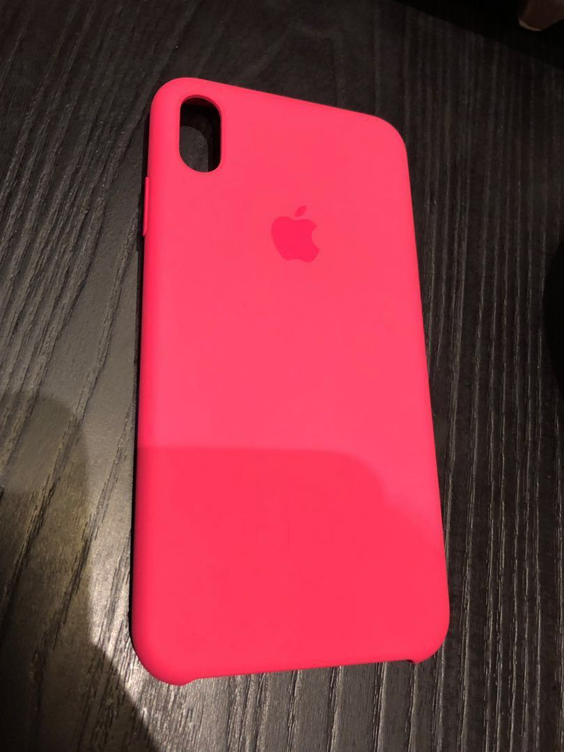 new arrival 4a403 3b86f Original iPhone XS Max Silicone Case Pink Hibiscus