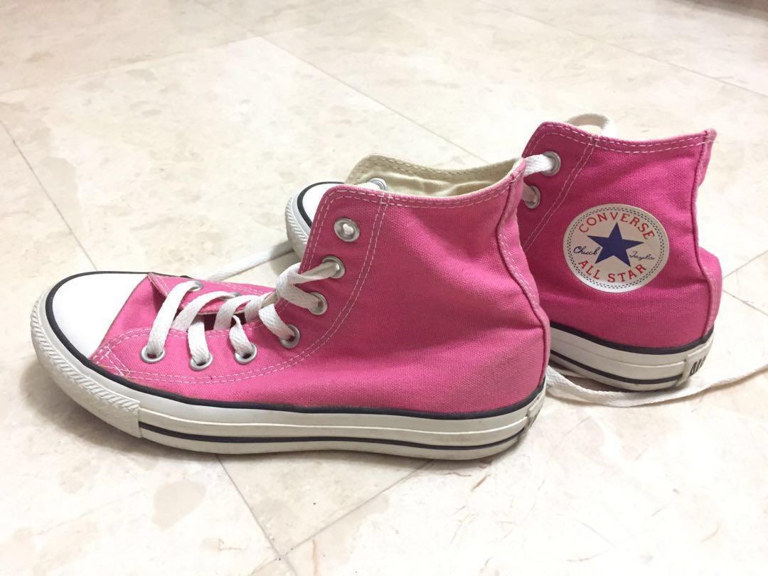 Pink Converse all star High cut / high