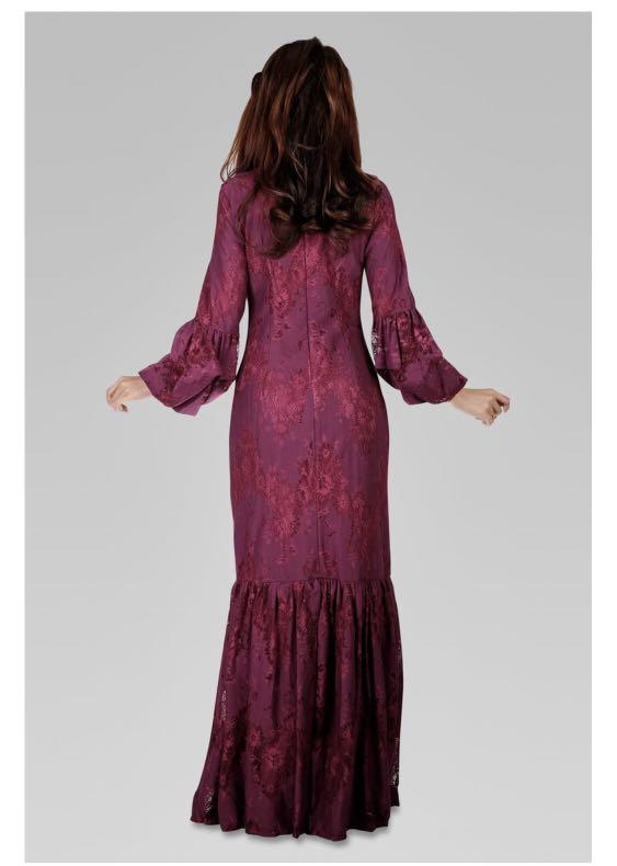 Rose Maxi Dress in Divine Magenta Size L
