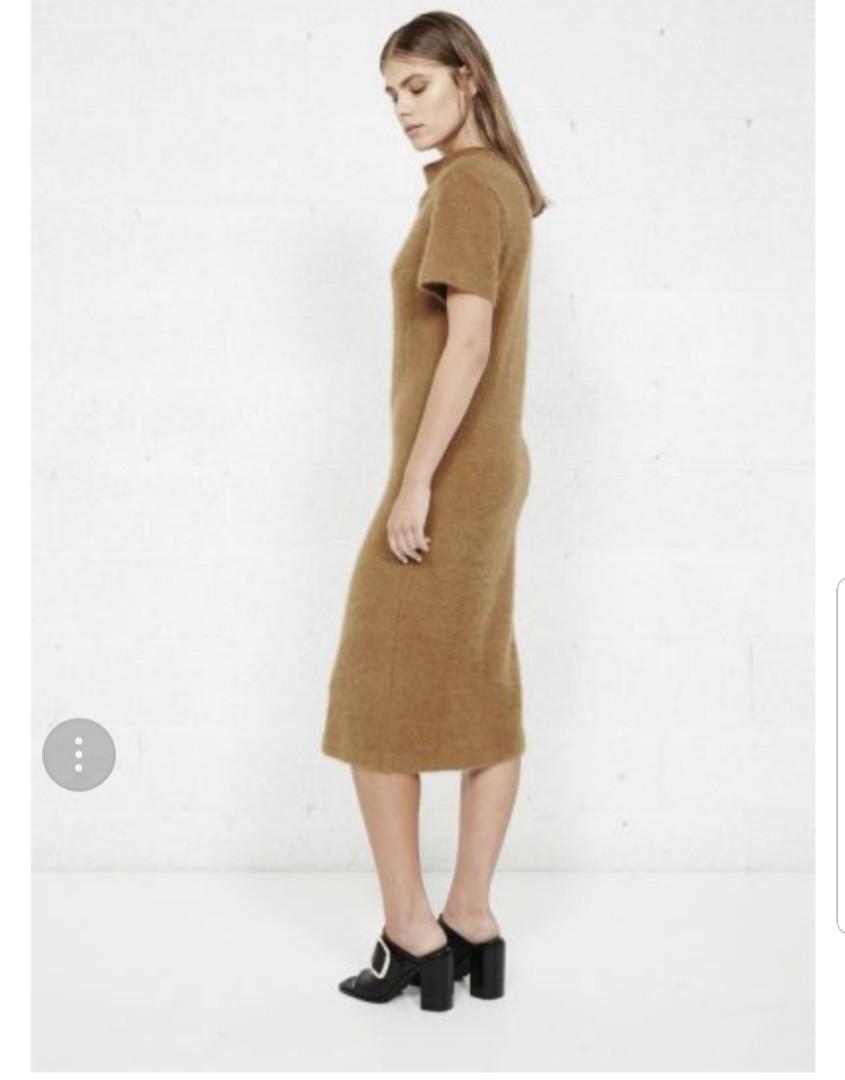 Third Form High Neck Knit Angora Wool Dress size S RRP$309