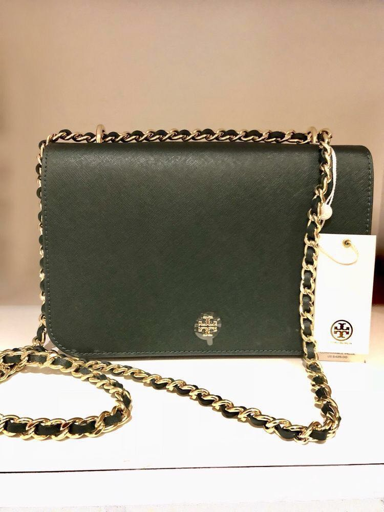 c1757571df1 Tory burch emerson adjustable shoulder bag in jitney green womens fashion  bags wallets sling bags on