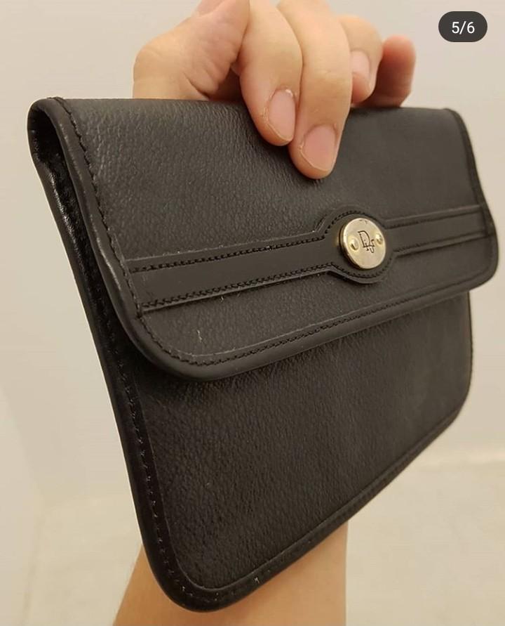406a67dd25fa Vintage Dior PVC Slip Envelope Clutch Purse