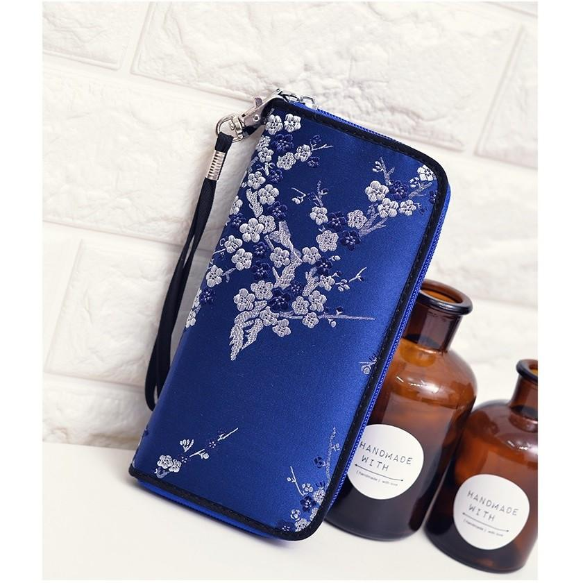Woman Floral Design Long Wristlets korean style