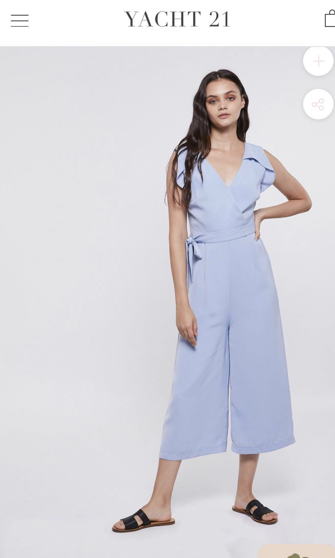 a609bccc63 Xaviera cropped jumpsuit in baby blue