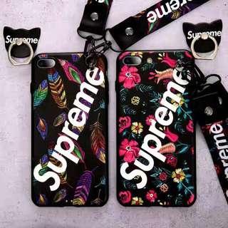 iPhone Case手機殼 - supreme凹凸繡花殼
