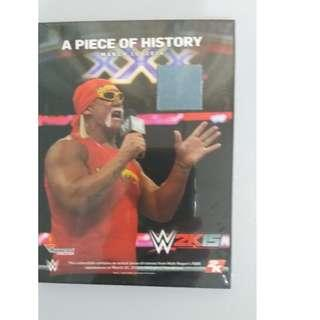 Hulk Hogan A Piece Of History Ring Canvas Plaque!!!