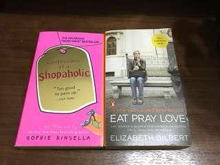 Eat pray love& confessions of a shopaholic