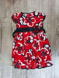 🚚 New red floral dress for 3-4 yrs