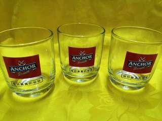 Anchor Beer Glasses 3 pcs