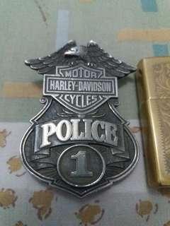 Belt Buckle Harley Davidson Police 1 💯