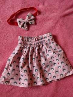 Baby Dress/ Tube with headpiece