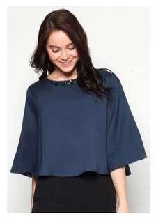 Zalia Embellished Wide Sleeve Swing Top (XS) * Pre-loved* #MFEB20
