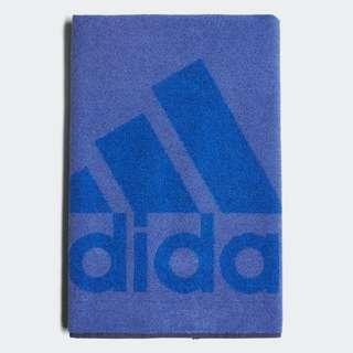 🚚 Adidas 全新 藍色 Logo 純棉 快乾 運動 休閒 毛巾 浴巾 運動毛巾 游泳毛巾 DH2861