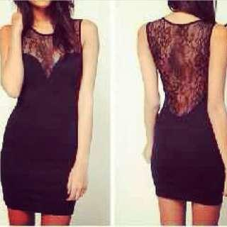 mini dress black gaun hitam pendek seksi